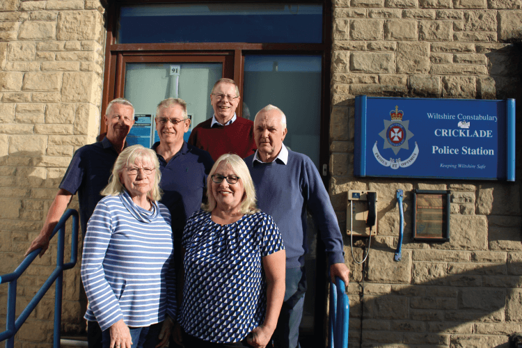 Cricklade Development Foundation Directors outside Cricklade Police station
