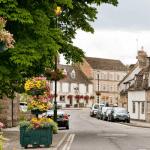 Cricklade High Street Image Thumbnail with Flowers